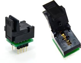 Фото 1/2 DIP8-SON8 2x3 mm (USON8, DFN8), Адаптер для программирования микросхем (=AE-WS8-U4, TSU-D08/WS08-3X2)
