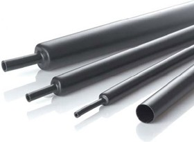 IAKT D:12/3 мм (черная), Трубка термоусадочная с клеевым слоем (1.22м)