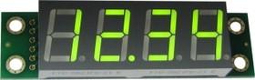 Фото 1/3 SHD0032G, Четырехразрядный светодиодный семисегментный дисплей со сдвиговым регистром, зеленый