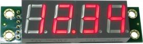 Фото 1/3 SHD0032R, Четырехразрядный светодиодный семисегментный дисплей со сдвиговым регистром, красный