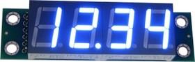 Фото 1/3 SHD0032UB, Четырехразрядный светодиодный семисегментный дисплей со сдвиговым регистром, голубой ультра-яркий