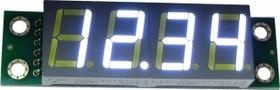 Фото 1/3 SHD0032UW, Четырехразрядный светодиодный семисегментный дисплей со сдвиговым регистром, белый ультра-яркий