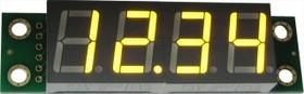 Фото 1/3 SHD0032UY, Четырехразрядный светодиодный семисегментный дисплей со сдвиговым регистром, желтый ультра-яркий