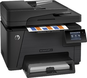 МФУ HP Color LaserJet Pro M177fw, A4, цветной, лазерный, черный [cz165a]