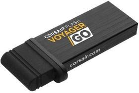Флешка USB CORSAIR Voyager GO 32Гб, USB3.0, черный [cmfvg-32gb-eu]