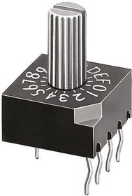 DRS 4016, Switch DIP SP16T 16 Extended Shaft 0.03A 15VDC PC Pins 20000Cycles Thru-Hole