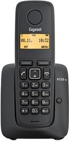 Фото 1/3 Р/Телефон Dect Gigaset A120 черный АОН