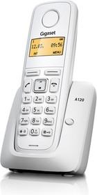 Фото 1/3 Р/Телефон Dect Gigaset A120 белый АОН