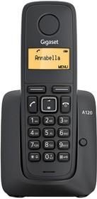 Фото 1/2 Р/Телефон Dect Gigaset A120A черный автооветчик АОН