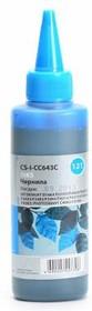 Чернила CACTUS CS-I-CC643С, для HP, 100мл, голубой [cs-i-cc643c]