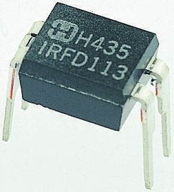 Фото 1/3 IRFD9014PBF, Транзистор MOSFET P-канал 60В 1.1А [HVMDIP]