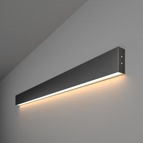 Фото 1/2 101-100-30-103 / Линейный светодиодный накладной односторонний светильник 103см 20W 3000K черная шагрень