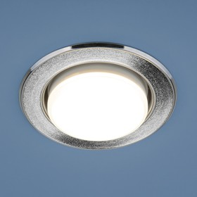 Фото 1/3 1072 GX53 / Светильник встраиваемый SL/СН серебряный блеск/хром