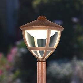 Фото 1/7 GL LED 3001F / Светильник садово-парковый со светодиодами Gala F брауни (GL LED 3001F)