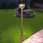 Фото 2/7 GL LED 3001F / Светильник садово-парковый со светодиодами Gala F брауни (GL LED 3001F)