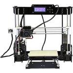 A8 3D Printer DIY KIT, 3D принтер, с дисплеем, с подогреваемой платформой