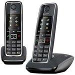 Р/Телефон Dect Gigaset C530 DUO черный (труб. в компл.:2шт) АОН