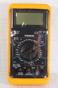 Фото 1/2 Портативный цифровой мультиметр с силиконовым чехлом M890D, приб мультиметр\цифр\ M890D\\DIGITAL