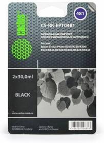 Заправочный комплект CACTUS CS-RK-EPT0481, для Epson, 20мл, черный