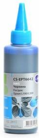 Чернила CACTUS CS-EPT6642, для Epson, 100мл, голубой