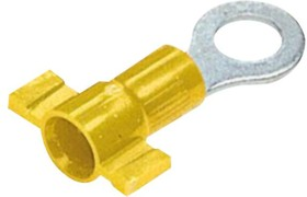 """PV10-14RB-2K, RING TERMINAL, VINYL INSULATED, 12 - 10 AWG, 1/4"""" STUD SIZE, FUNNEL ENTRY 07AH2266"""