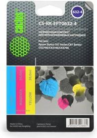 Заправочный комплект CACTUS CS-RK-EPT0632-4, для Epson, 90мл, многоцветный