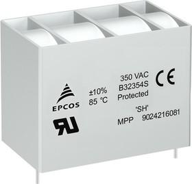 B32354S3256K010, 25 мкФ, 350В, 57x40x50мм, Конденсатор металлоплёночный