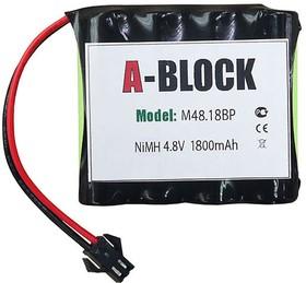 A-BLOCK M48.18BP, Аккумуляторная сборка NiMh 4.8В 1800mAh