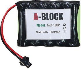 A-BLOCK M60.18BP, Аккумуляторная сборка NiMh 6.0В 1800mAh