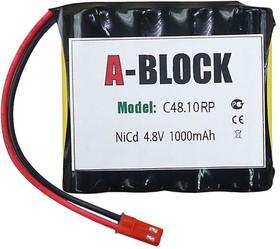 A-BLOCK C48.10RP, Аккумуляторная сборка NiCd 4.8V 1000mAh