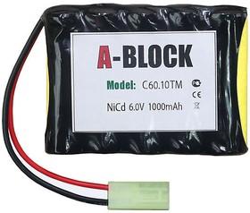 A-BLOCK C60.10TM, Аккумуляторная сборка NiCd 6.0V 1000mAh