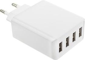 Фото 1/3 PowerBox6A, Блок питания с 4 USB разъёмами, 5В,6А,30Вт (адаптер)