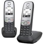 Р/Телефон Dect Gigaset A415 Duo черный (труб. в компл.:2шт) АОН
