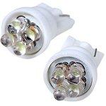 T10 4LED, светодиодная автомобильная лампа 12В T10, белая