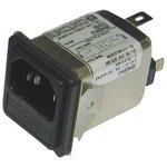 1609116-6, IEC фильтр, 0.1 мкФ, 250 В AC, Медицинский, 10 А ...