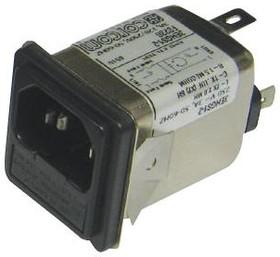 1609116-6, IEC фильтр, 0.1 мкФ, 250 В AC, Медицинский, 10 А, Быстрое Соединение, 270 мкГн