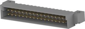 Фото 1/3 5536053-5, Разъем DIN 41612, Eurocard Type 1/2B Series, 32 контакт(-ов), Штыревой Разъем, 2.54 мм, 2 ряда