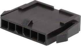 Фото 1/2 43640-0600, Корпус разъема, Micro-Fit 3.0 43640 Series, Штекер, 6 вывод(-ов), 3 мм