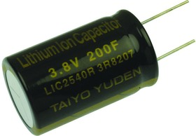 LIC1030RS3R8206, CAPACITOR, LITHIUM ION ,CYLINDER TYPE,3.8V ,270F 01AH9866