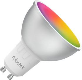 Фото 1/2 RUBETEK RL-3105, Лампа светодиодная RGB c Wi-Fi, 5Вт,220В,GU10, Умный дом