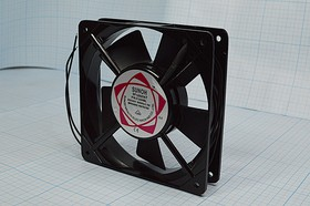 Фото 1/5 Вентилятор переменного тока 220 Вольт, шариковый подшипник, 2100об/мин, ВН351B вент 120x120x25\220В\ 0,10А\2L\ШП\SF12025AT SUNOH