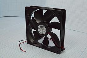 Фото 1/5 Вентилятор постоянного тока 12 Вольт, 120x120x25мм, шариковый подшипник, 2600об/мин, ВН348B вент 120x120x25\ 12В\0,46А\2L\ШП\ FBDCF12025D12H