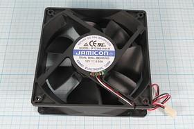 Фото 1/5 Вентилятор постоянного тока 12 Вольт, шариковый подшипник, 2400об/мин, ВН291 вент 120x120x38\ 12В\0,55А\3L\ ШП\JF1238B1HM-R JAMI