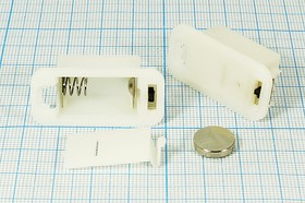 Фото 1/2 Батарейный отсек для 4-x элементов 389А(AG10) или 3-х 357A(AG13), 14118 бат держ LR1130x4\закр\ON- OFF\2C\AG10-4/AG13-3\