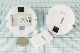 Фото 1/2 Батарейный отсек для 4-x элементов 389А(AG10) или 3-х 357A(AG13), 14117 бат держ LR1130x4\закр\ON-OFF\ 2C\AG10-4/AG13-3\d34