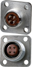 2PM14-4ZKQB2, розетка на корпус 4 контакта (аналог 2РМТ14Б4Г1В1В)