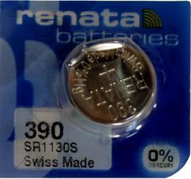 Фото 1/2 R 390 (SR 1130 SW, 1.55V, 80mAh, 11.6x3.1mm)(бат-ка для часов)