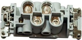 0-1102076-1, HTS розетка HE-K4/2 Series size6 400В/35A (для 1102075-1)
