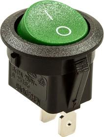 777, Переключатель, 2 конт., 250В/6.0А, зеленый, (768-1) , круглый