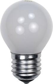 60D1/FR/E27, Лампа 60Вт, сферическая матовая, цоколь E27